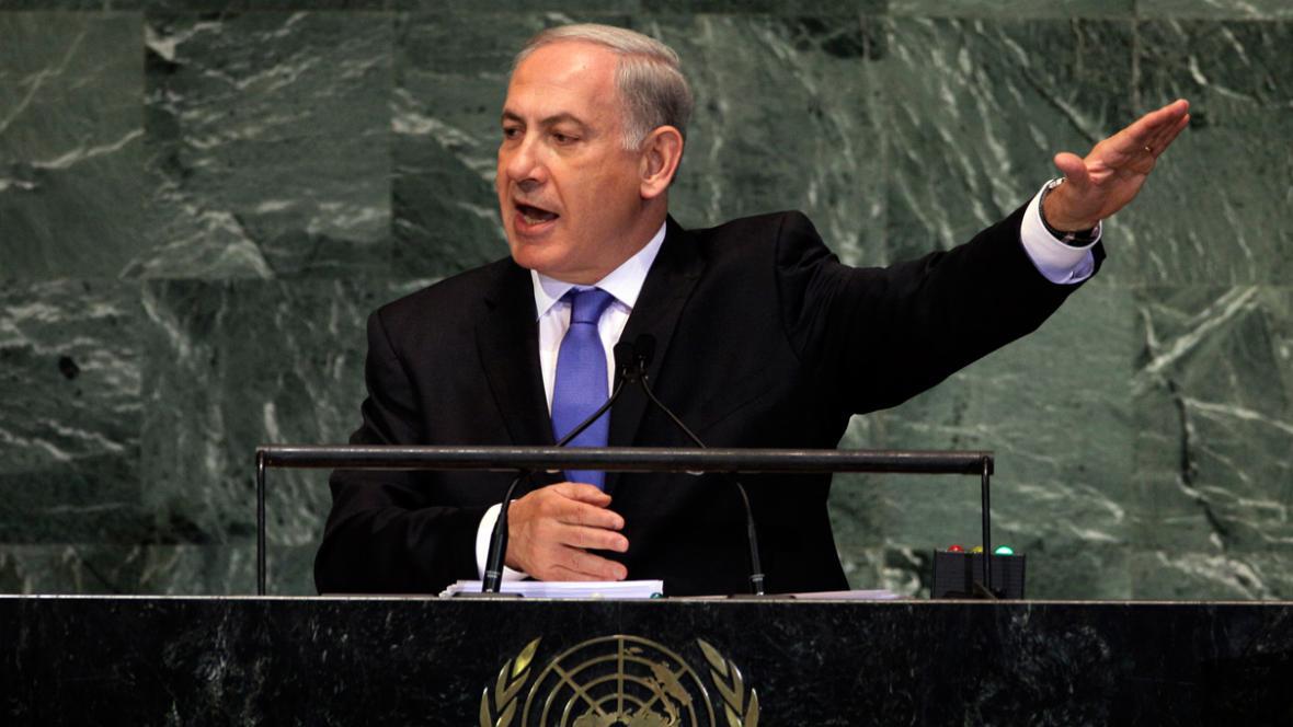 Projev Benjamina Netanjahua v OSN