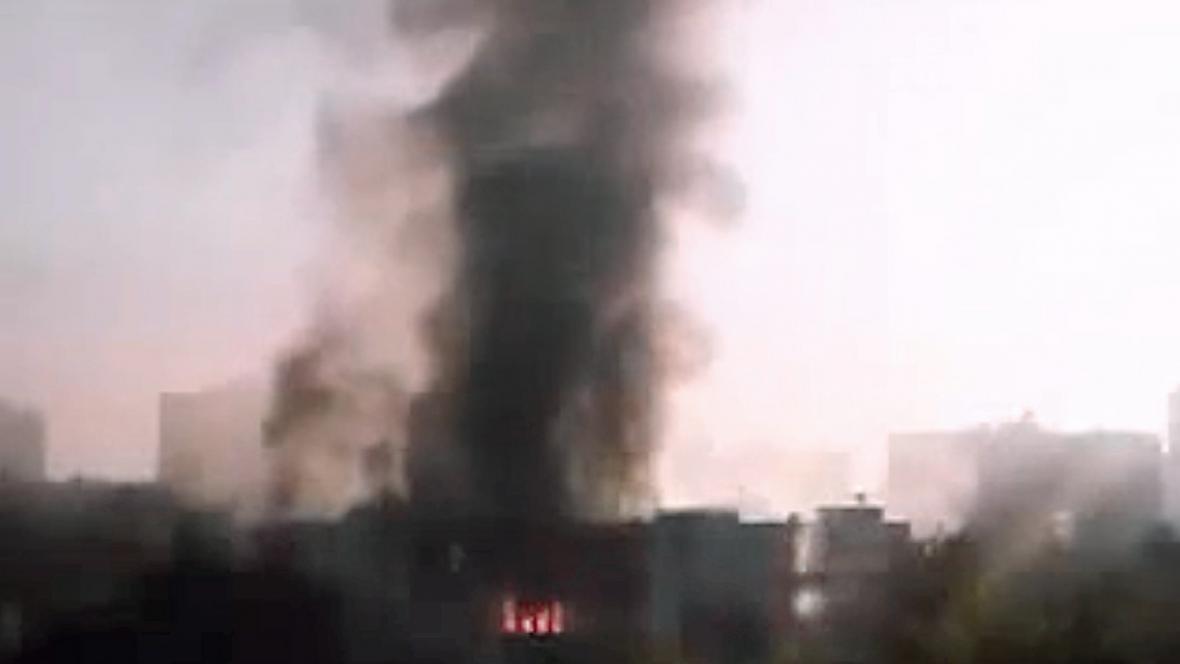 Výbuch u generálního štábu v Damašku