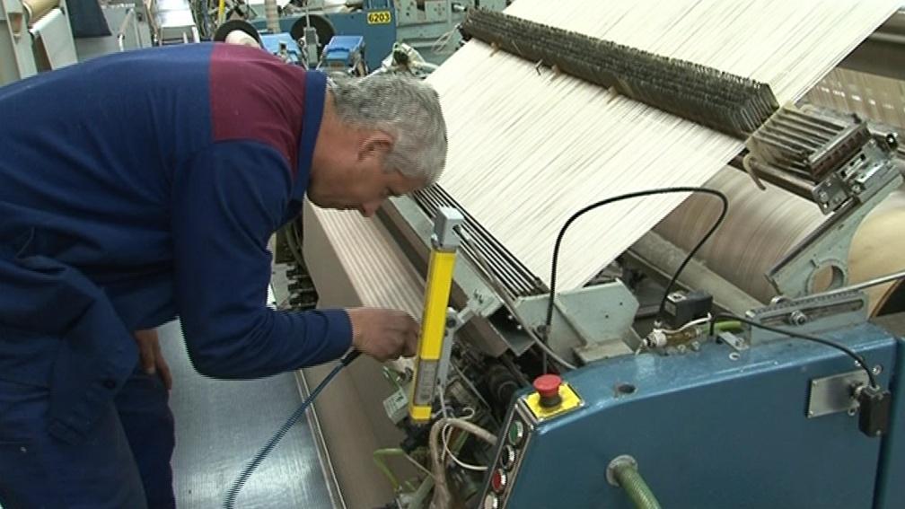 Měsíčně firma vyrobí 21 tisíc tun textilií