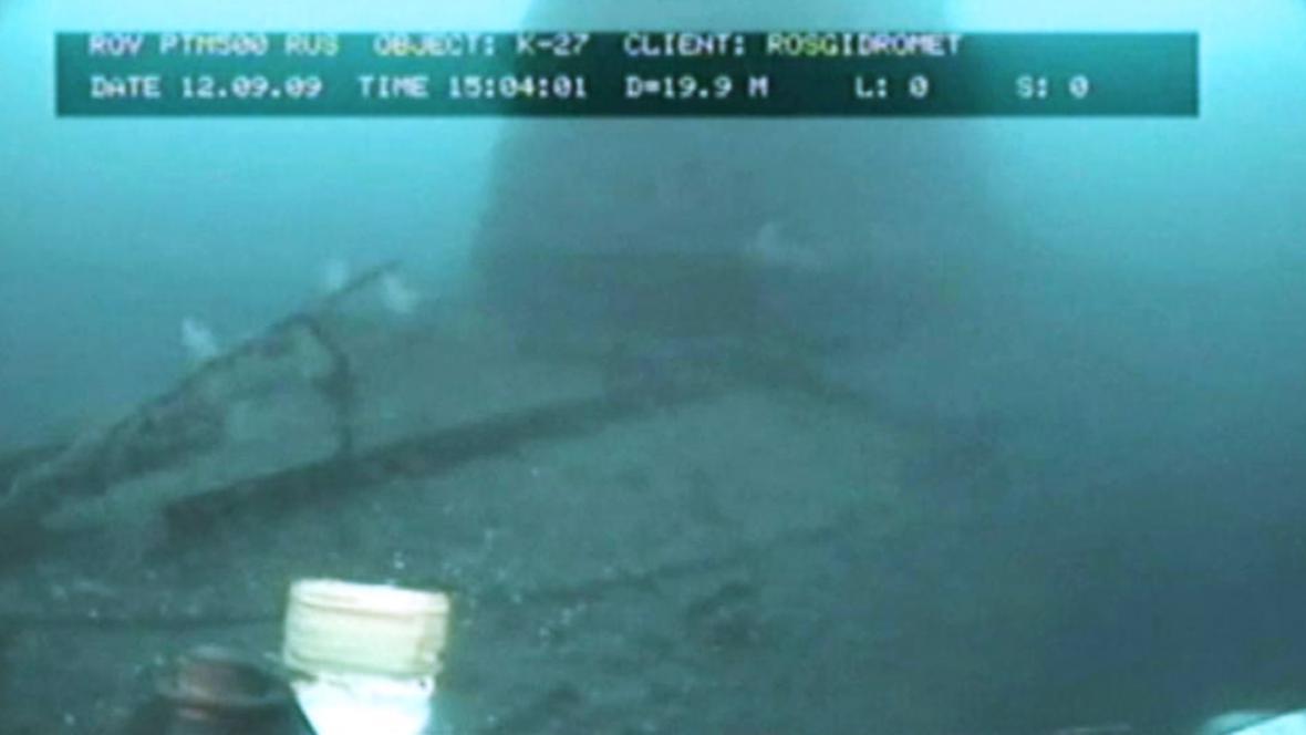 Vrak ponorky na dně Karského moře