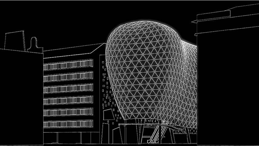 Edison Center černobílá studie 3