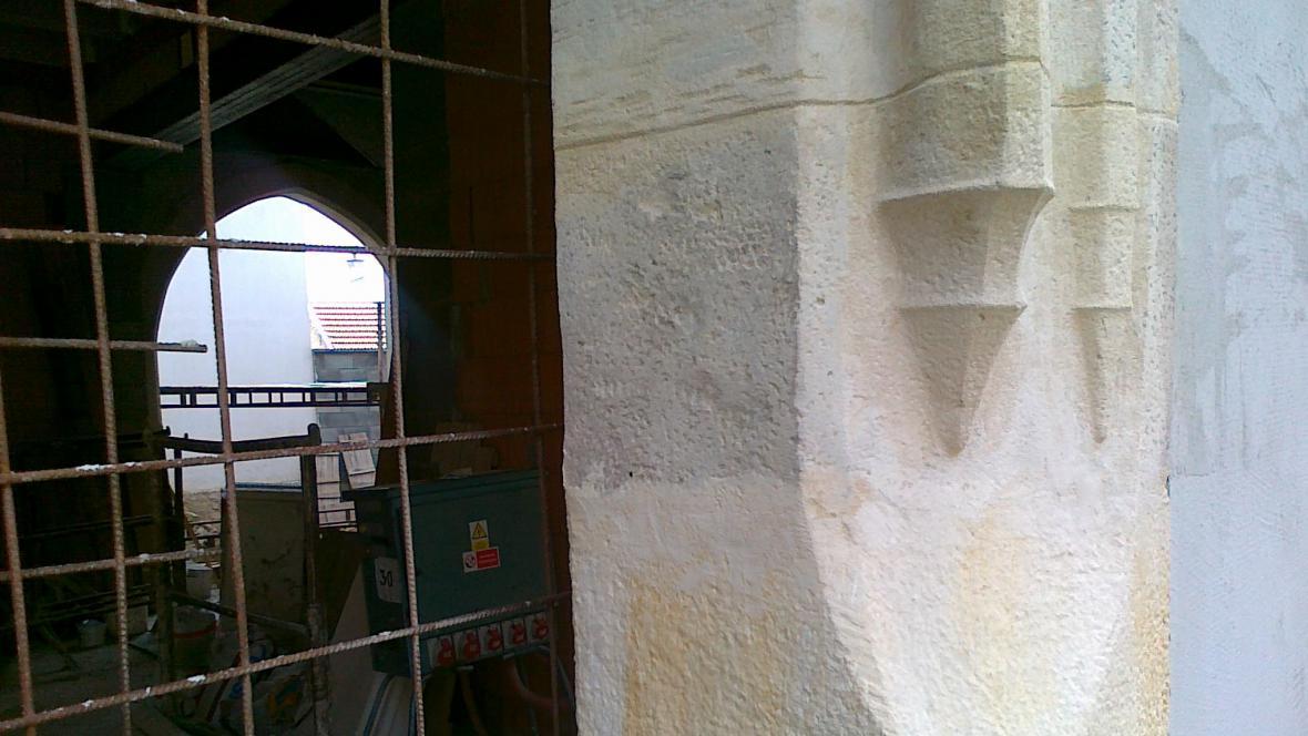 Gotické prvky z původního domu se staly součástí stavby
