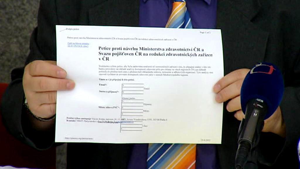 Petice na obranu nemocnic