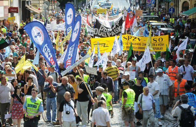 Pochod odborářů