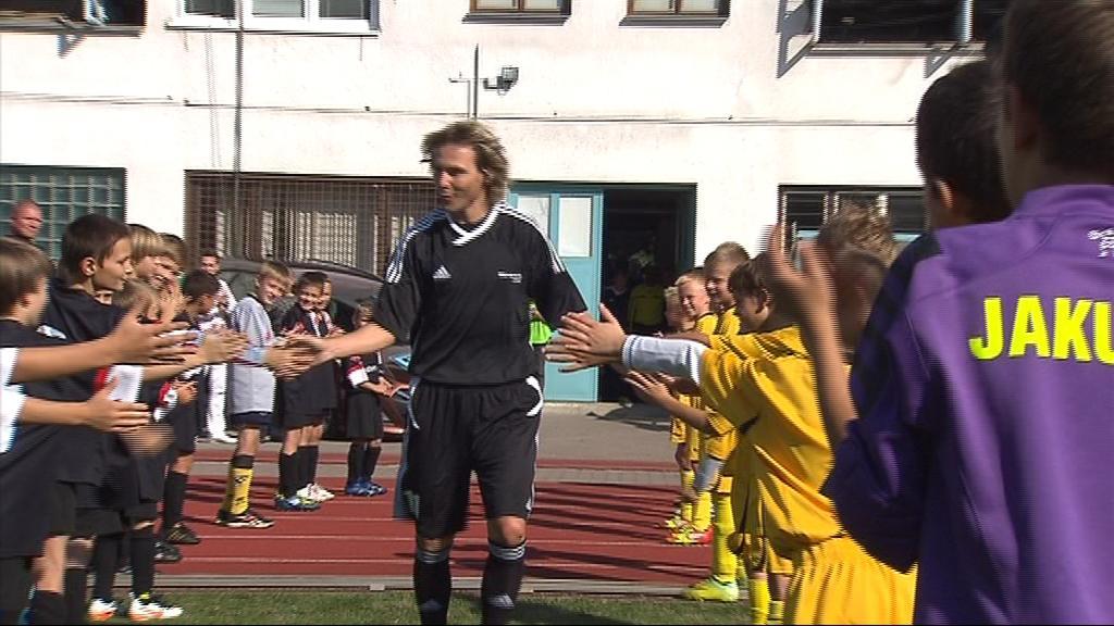 Hodonínští žáci si mohli plácnout se svým fotbalovým idolem