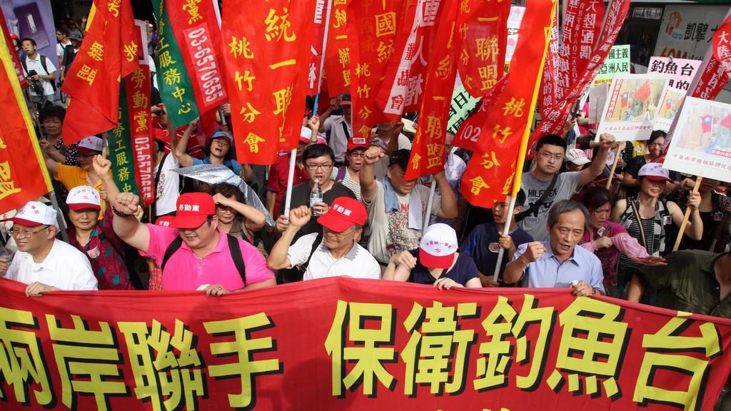 Protest proti čínským nárokům na ostrovy Senkaku