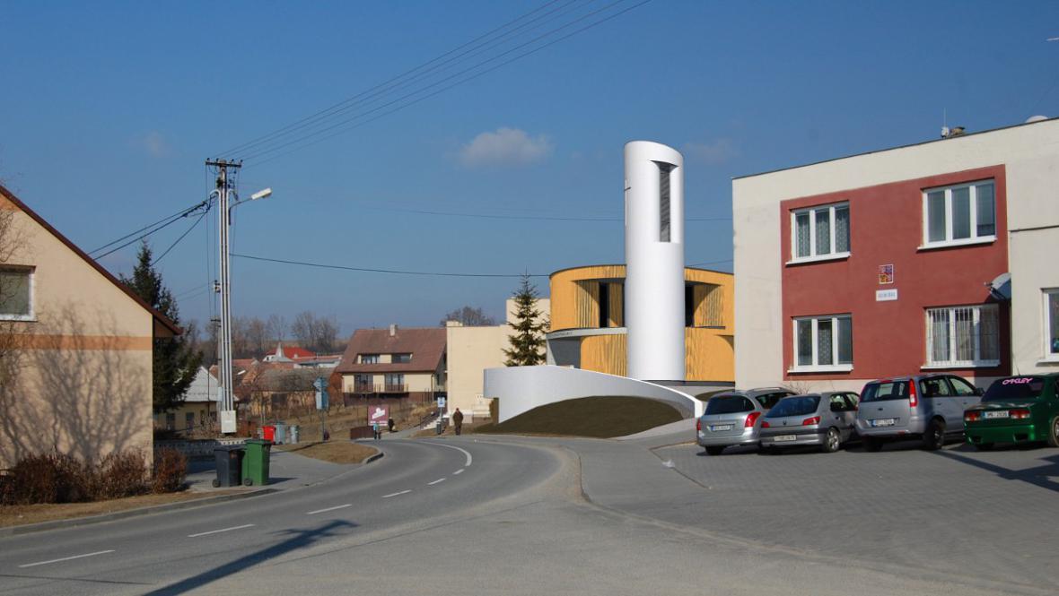 Kaple bude stát vedle obecního úřadu a sokolovny