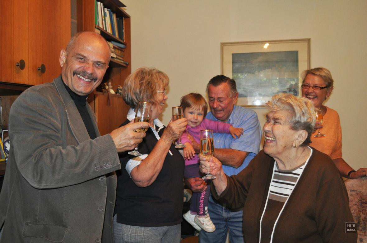 Oslava 97. narozenin paní Emilie Žáčkové