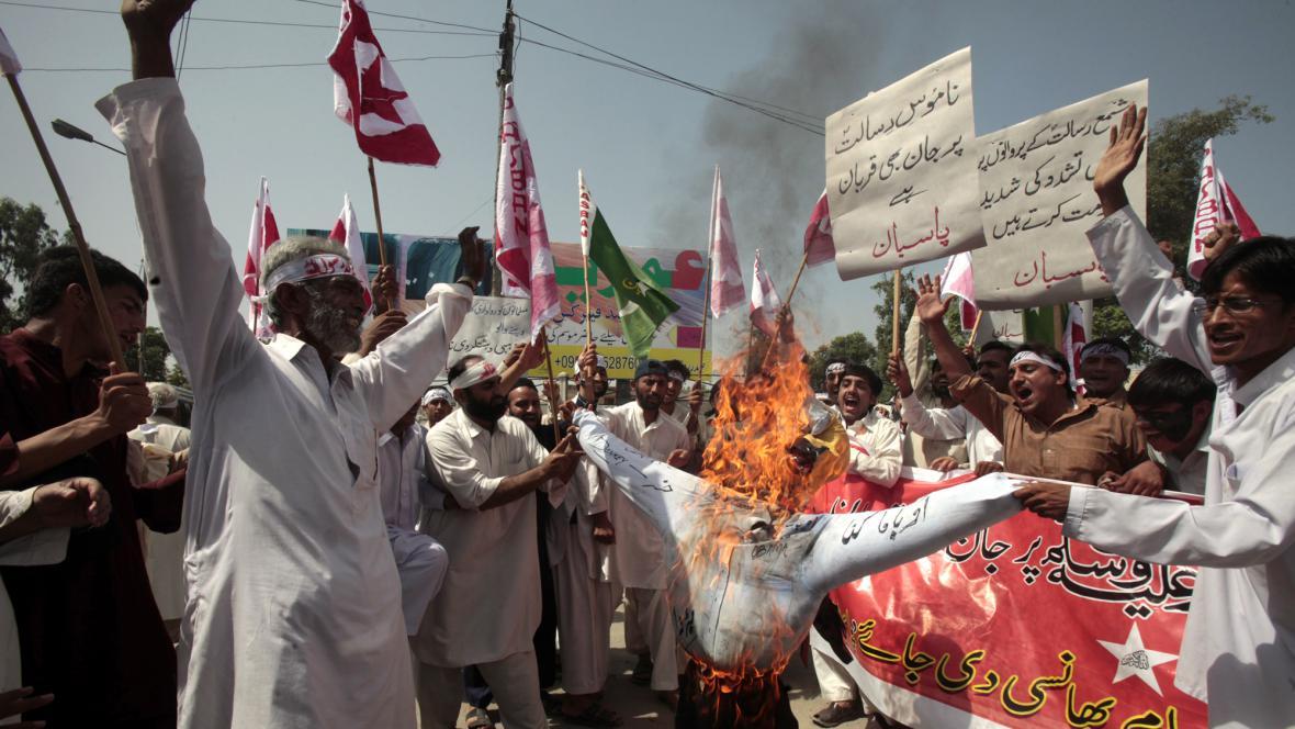 Protesty proti filmu v Pákistánu
