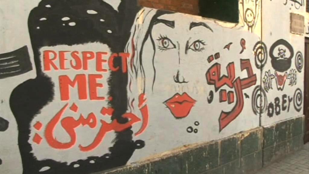 Graffiti na káhirském náměstí Tahrír