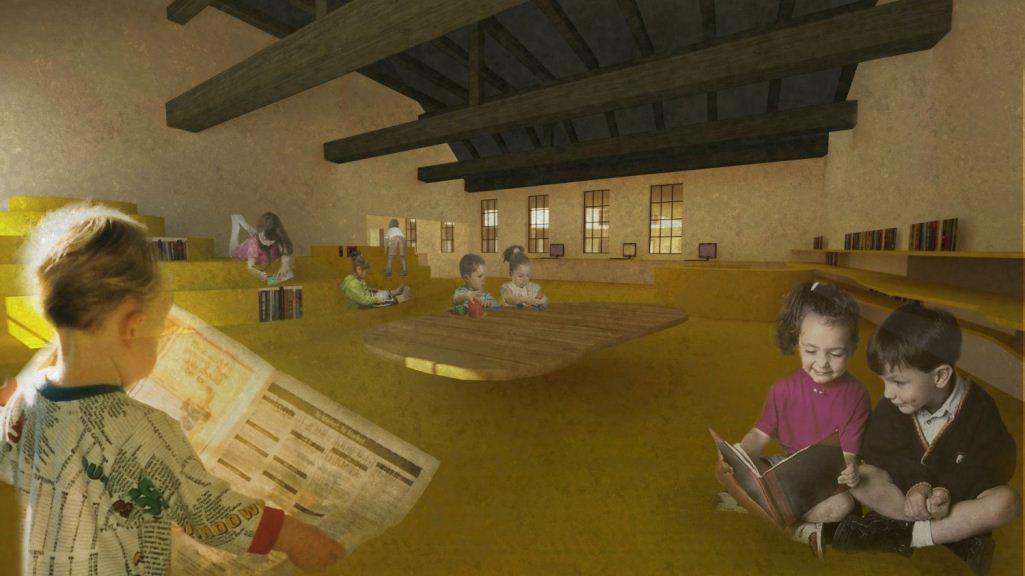Návrh interiéru knihovny