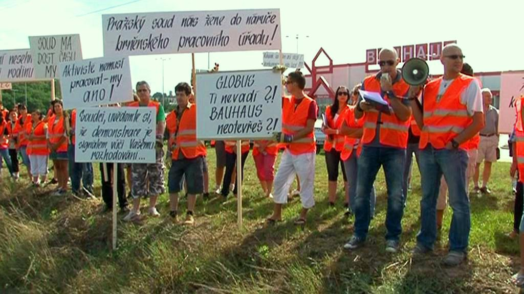 Demonstrace pracovníků Bauhausu