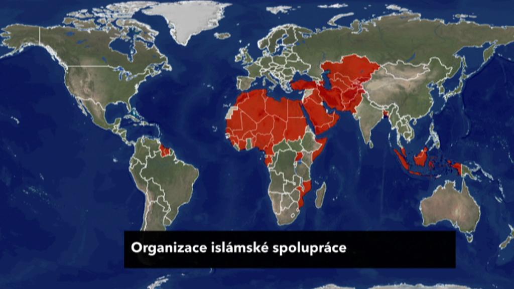 Členské země OIC - Organizace islámské spolupráce