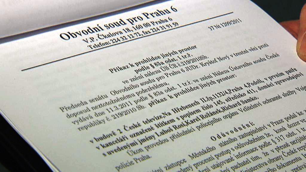 Soudní příkaz k prohlídce v ČT