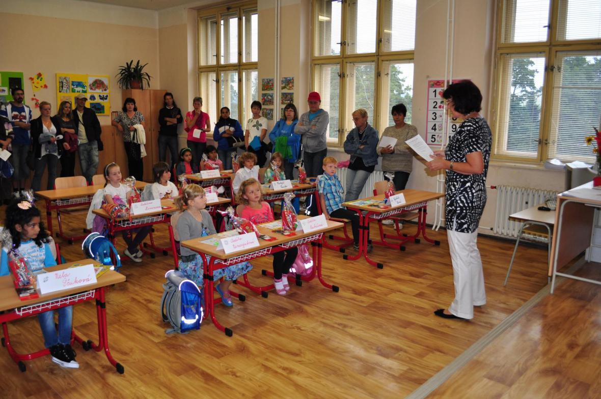 Z prvního školního dne v Poběžovicích