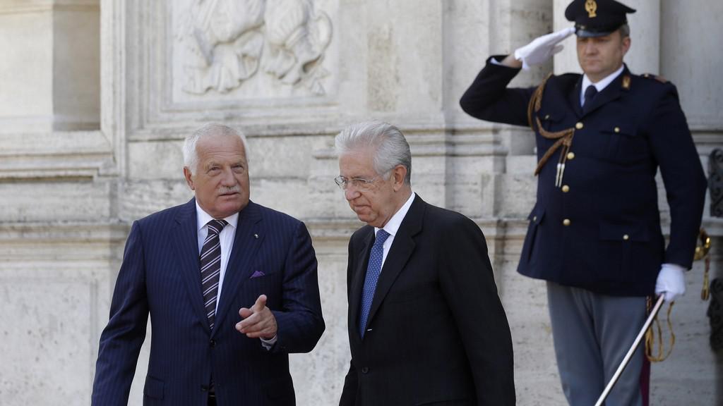 Václav Klaus a Mario Monti