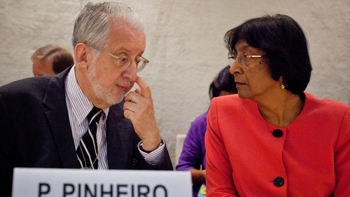 Paulo Sérgio Pinheiro a Navi Pillayová