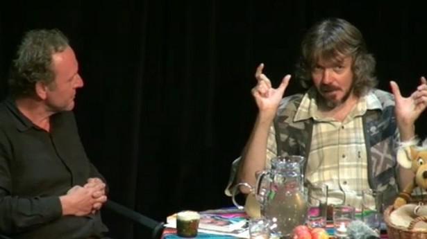 Z pořadu Duše K v Divadle Kampa s Romanem Mlejnkem