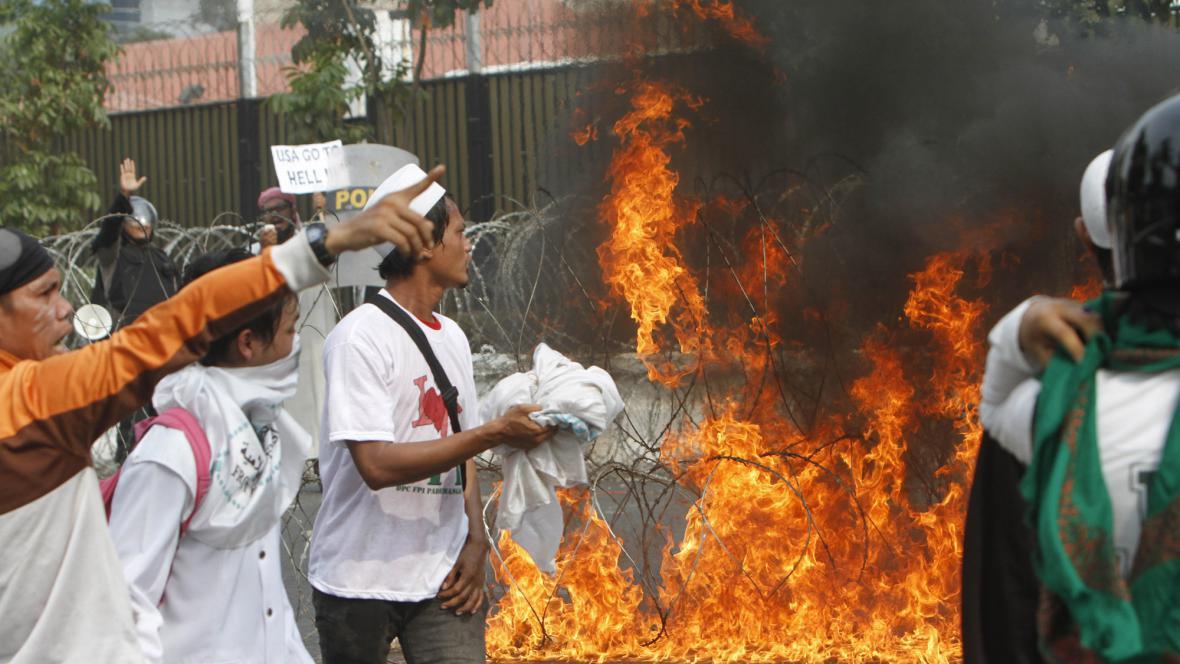 Protesty v Indonésii