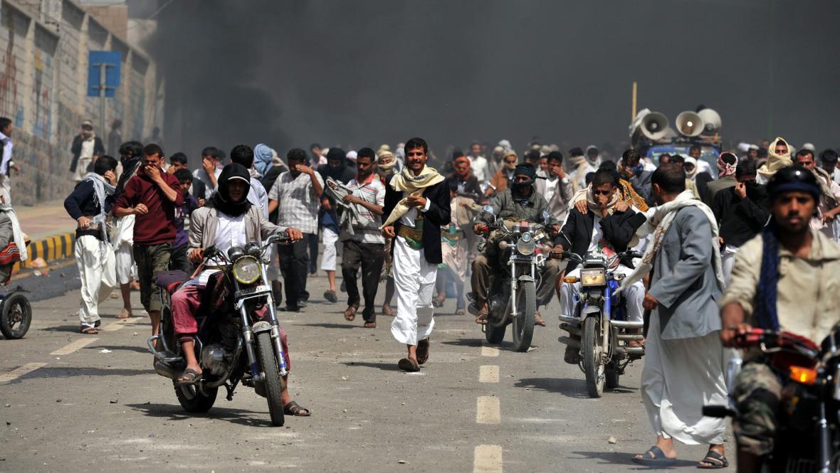 Protiamerické protesty v Jemenu