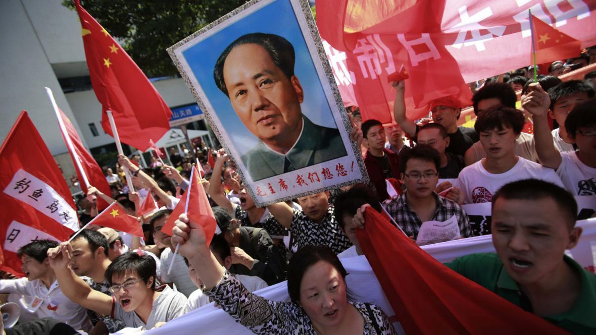 Protijaponské protesty v Šanghaji