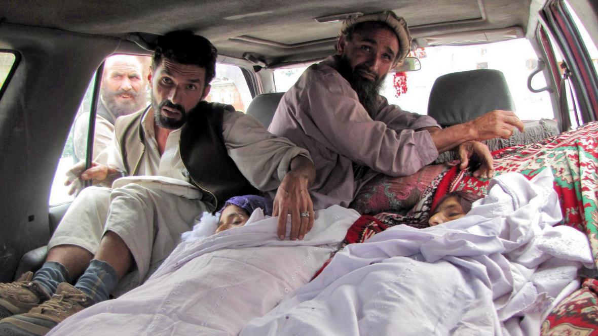 Afghánské civilistky po náletu NATO