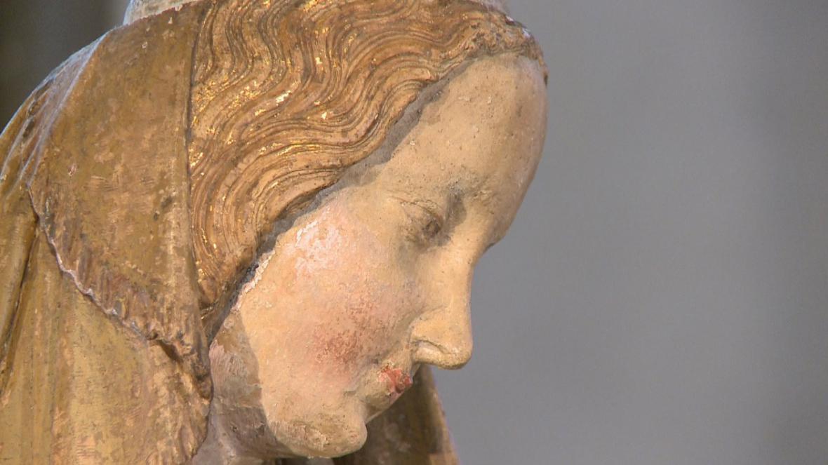 Madona z Halstattu (detail)