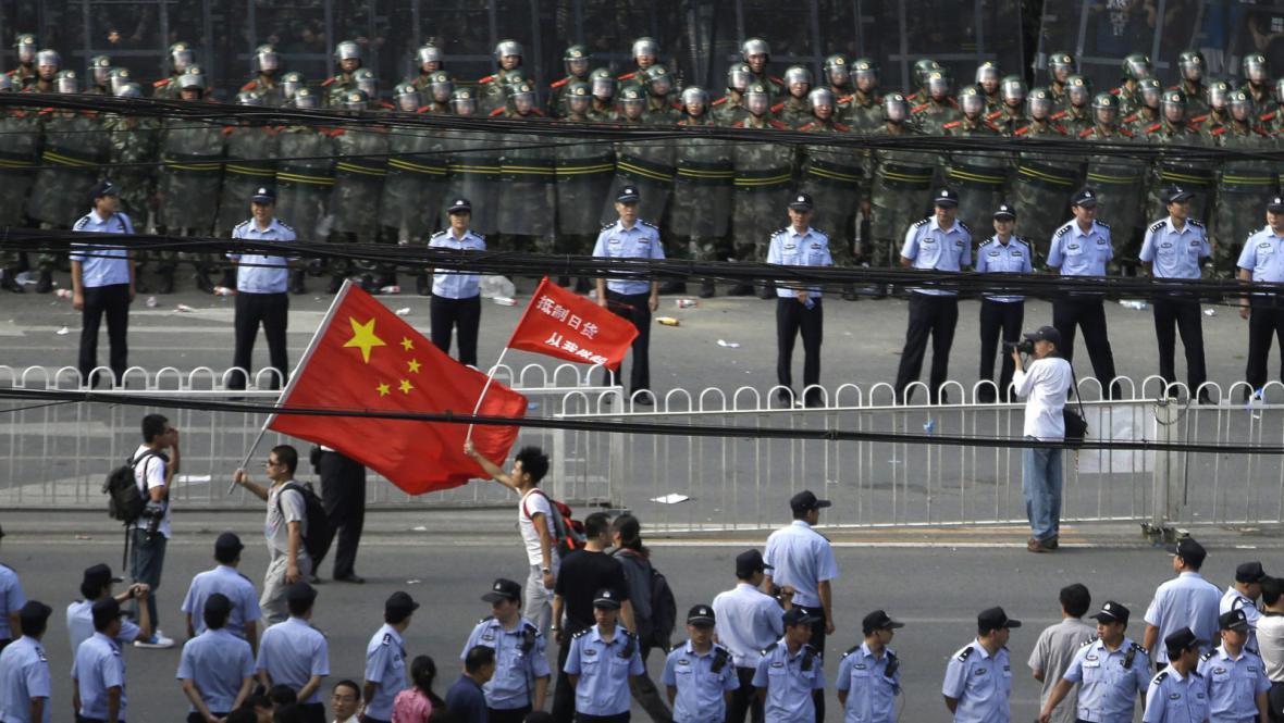 Protijaponské protesty v Pekingu