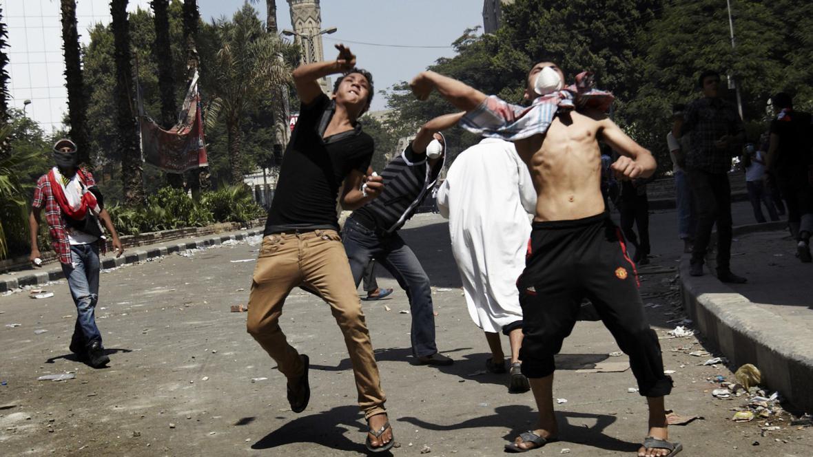 Protiamerické protesty v Egyptě