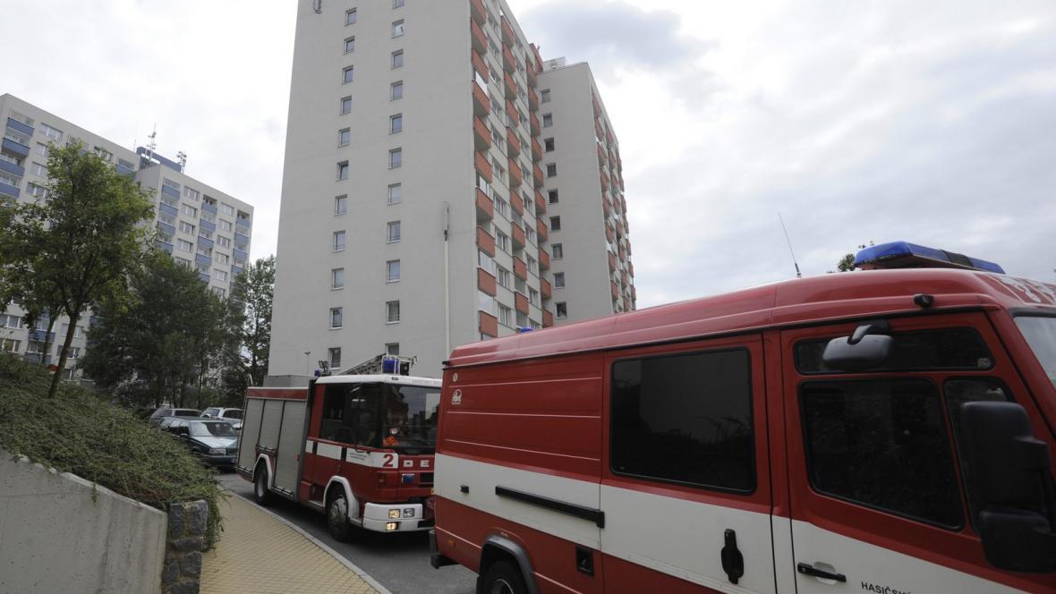 Exploze na pražském sídlišti Červený vrch
