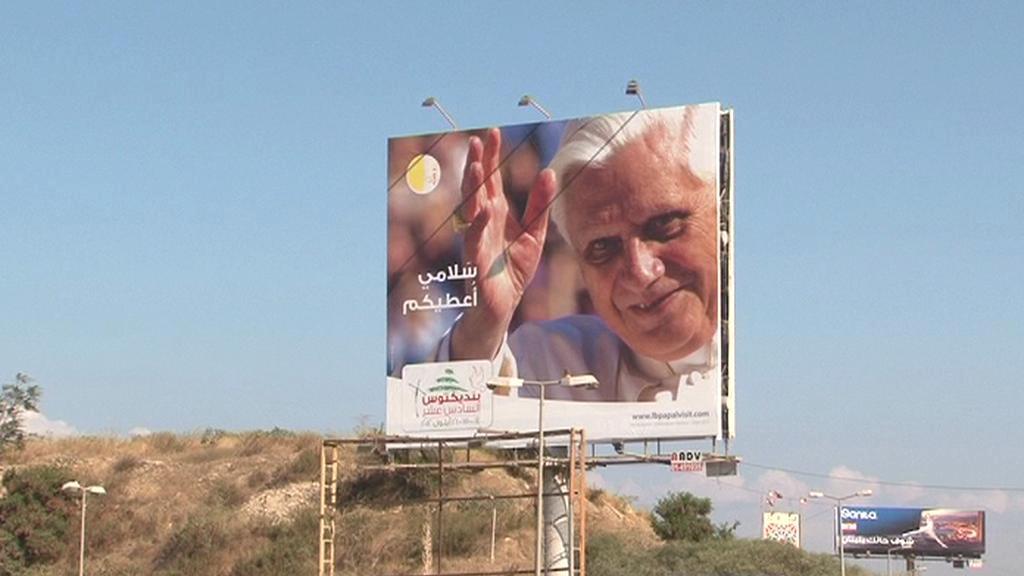 Benedikt XVI. přijíždí do Libanonu