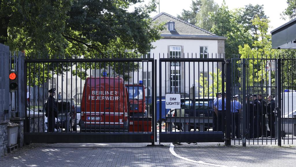 Evakuovaný konzulát USA v Berlíně