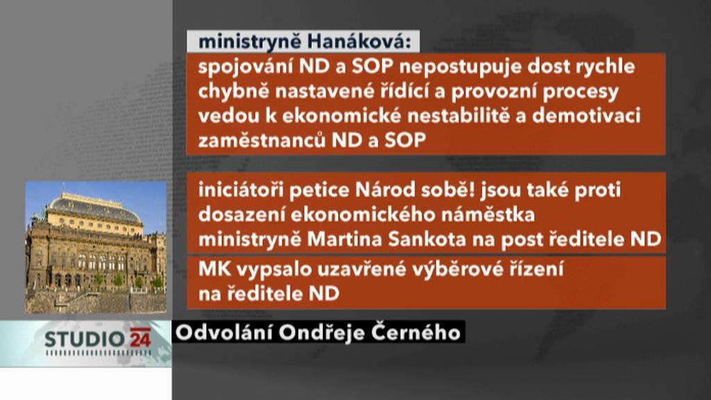 Kroky spojené s odvoláním Ondřeje Černého