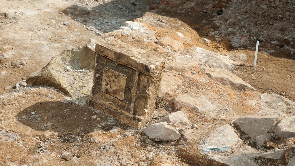 Místo, kde spočívají pravděpodobné ostatky Richarda III.
