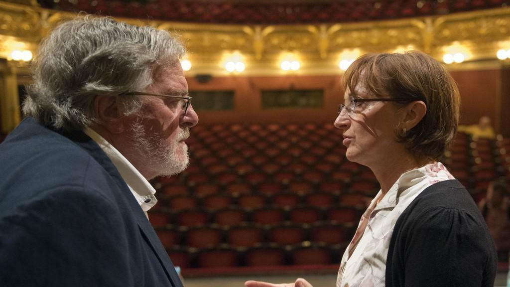 Jan Kačer s Alenou Hanákovou v ND