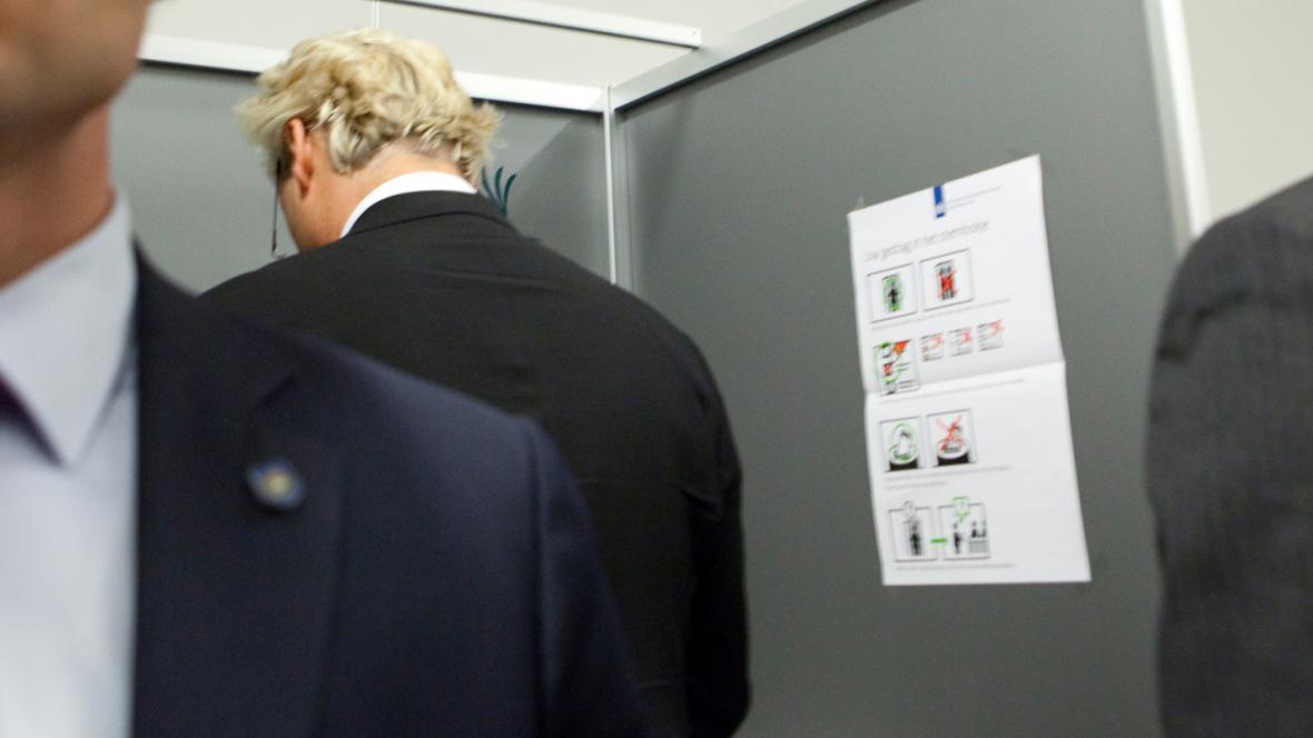 Geert Wilders u volební urny