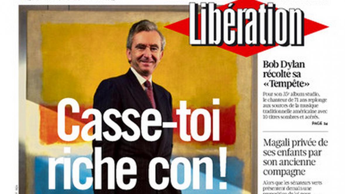 Bernard Arnault na titulce Libération