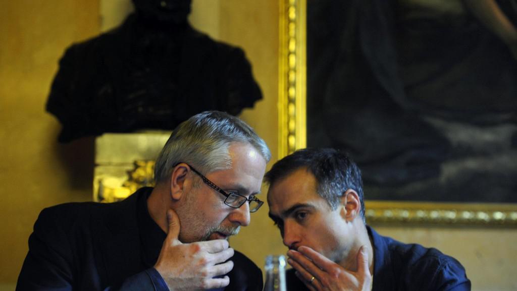 Ředitel ND Ondřej Černý a šéf baletu Petr Zuska