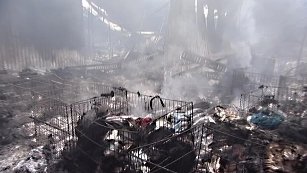 Požár zničil veškeré zboží