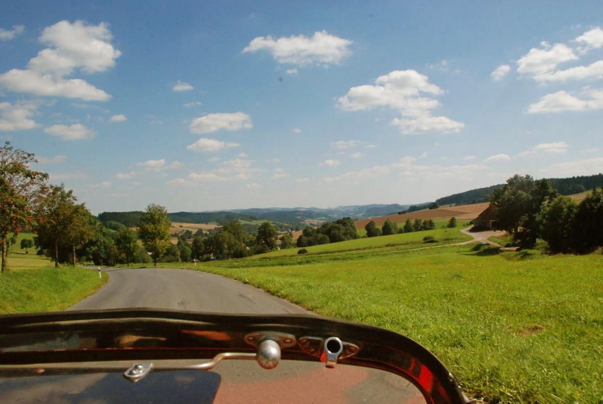 Pohled na krajinu Českomoravské vrchoviny
