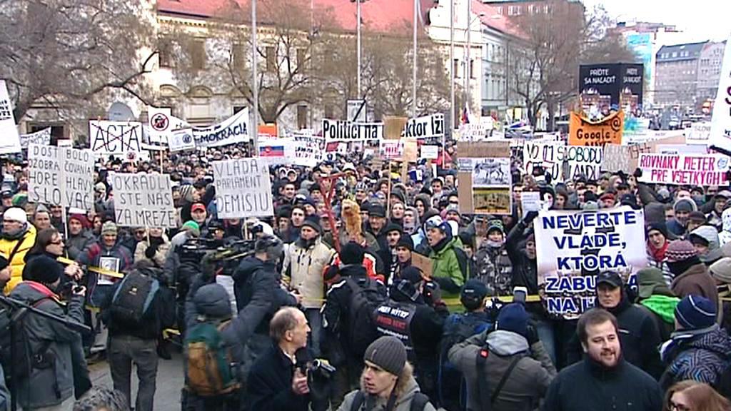 Protesty proti korupci na Slovensku
