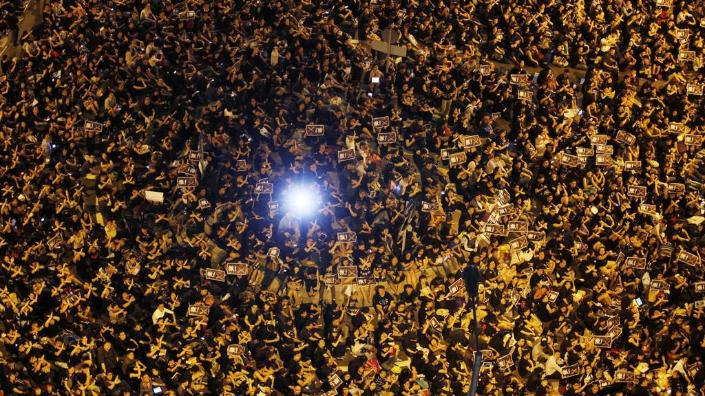 Protesty dětí v Hongkongu