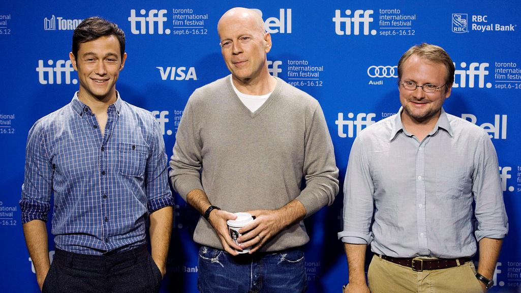 Joseph Gordon-Levitt, Bruce Willis a Rian Johnson