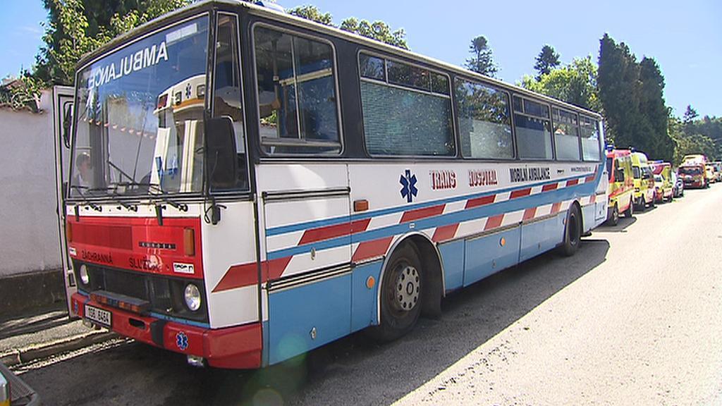 Autobus pro terénní výjezd metadonového centra