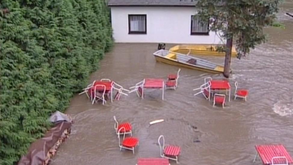 Povodně zasáhly Podyjí například v roce 2006