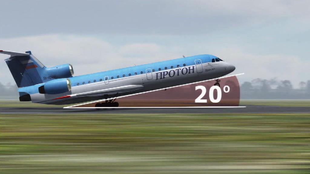 Simulace letu Jaku-42 v Jaroslavli