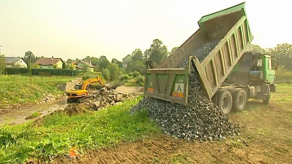 Stavba protipovodňových opatření v Sedlnici