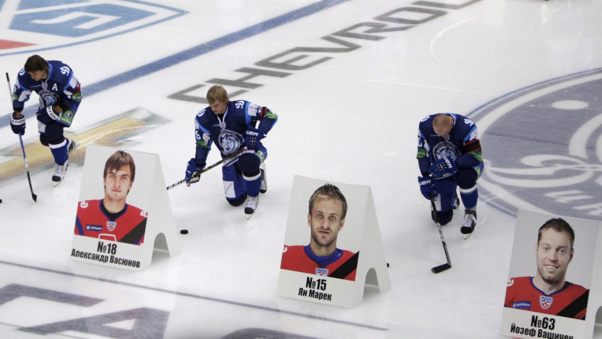 Pieta za tragicky zesnulé hokejisty