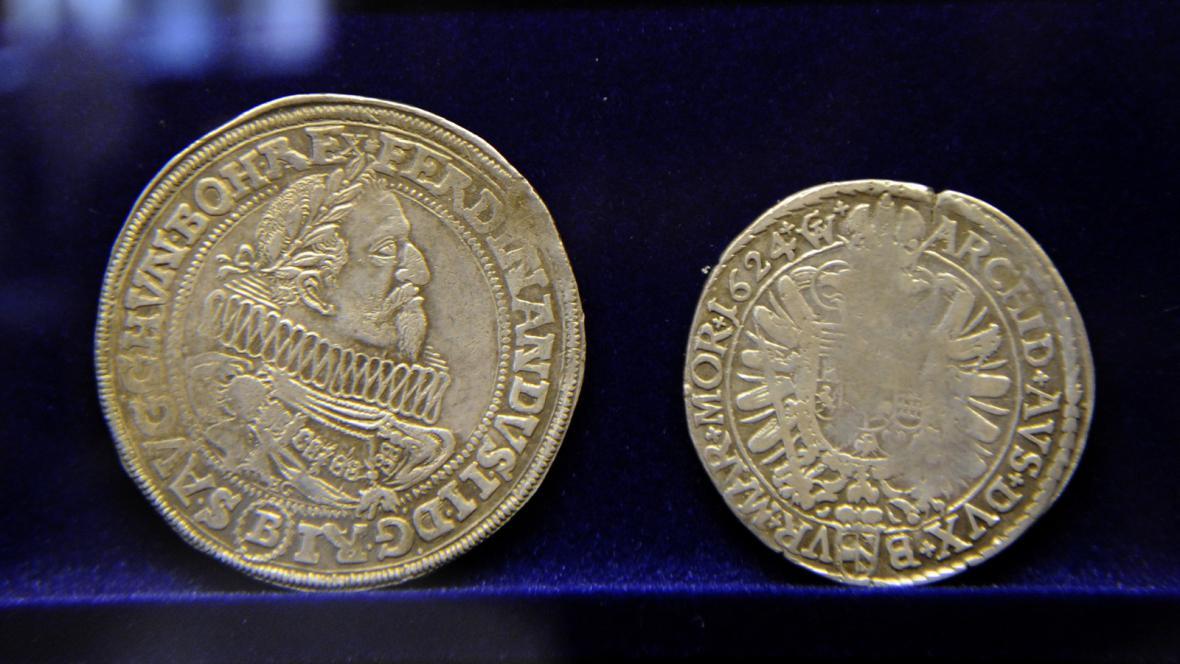 Brněnský tolar a půltolar z roku 1624