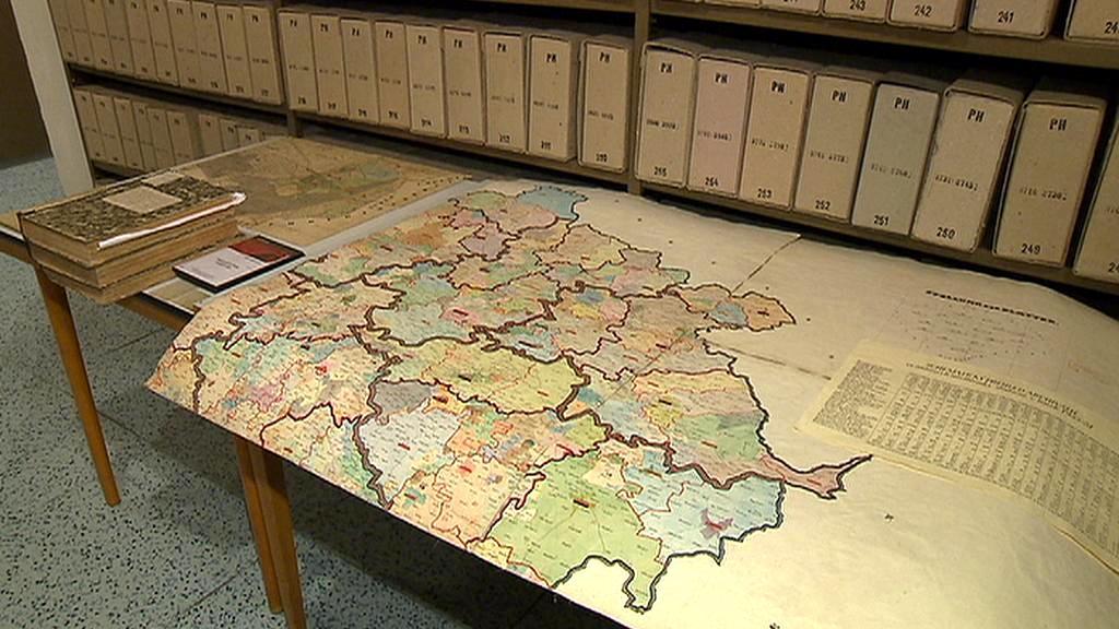 Katastrální mapa v národním archivu
